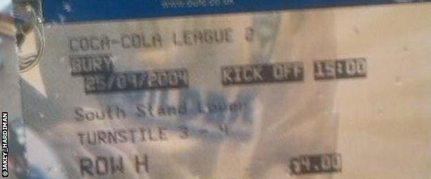A match ticket