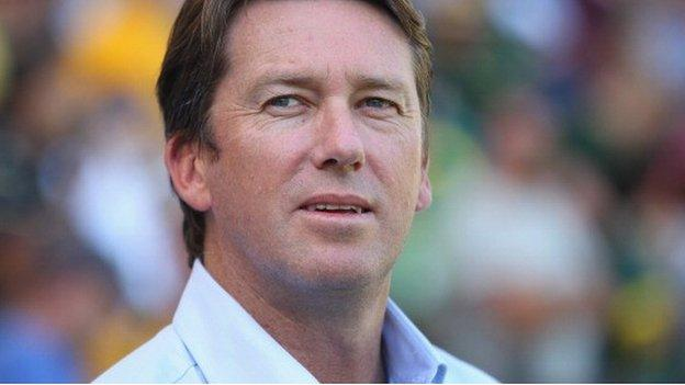 Former cricketer Glenn McGrath