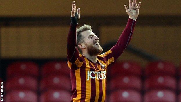 Bradford City's Billy Clarke