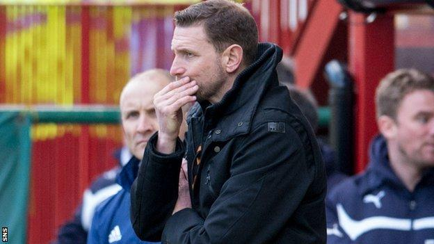 Motherwell have lost seven of their last eight matches under Ian Baraclough