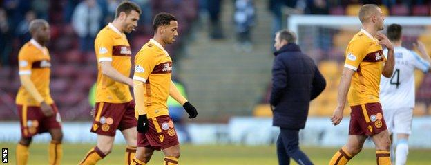 Motherwell dropped to the foot of the Scottish Premiership