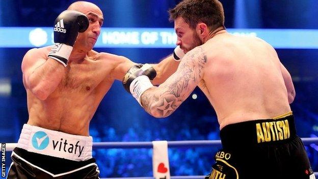 Arthur Abraham of Germany and Paul Smith of Great Britain