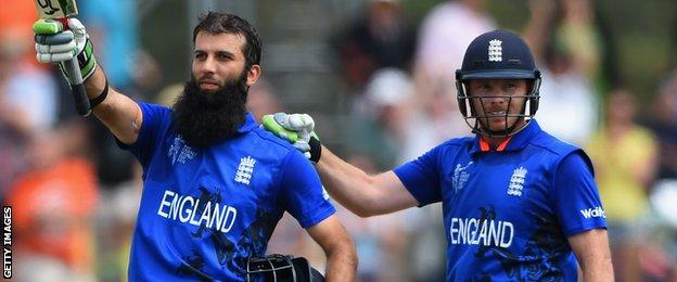 Moeen Ali and Ian Bell
