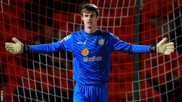 Crewe Alexandra keeper Ben Garratt