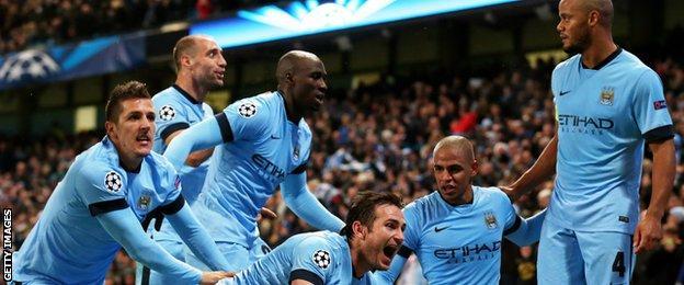 Manchester City beat Bayern Munich