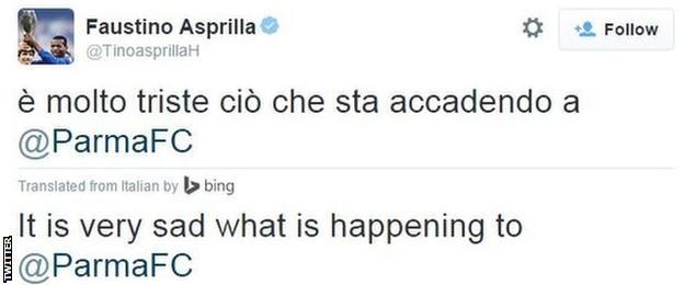 Parma tweet