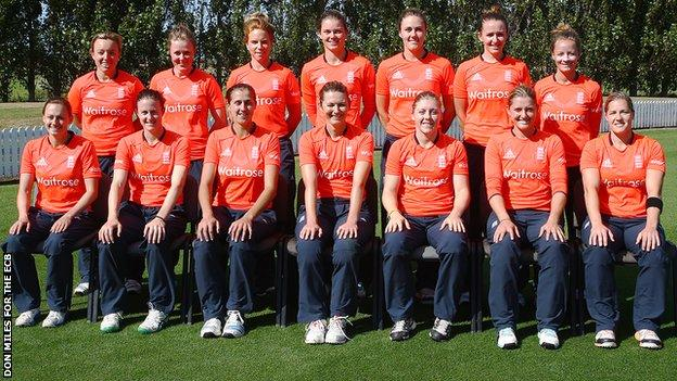 The England squad in New Zealand