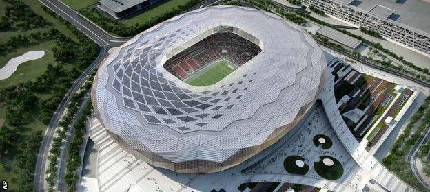 The Qatar Foundation stadium in the capital Doha is being designed to seat 40,000