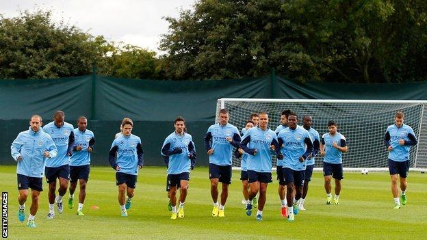 Man City training