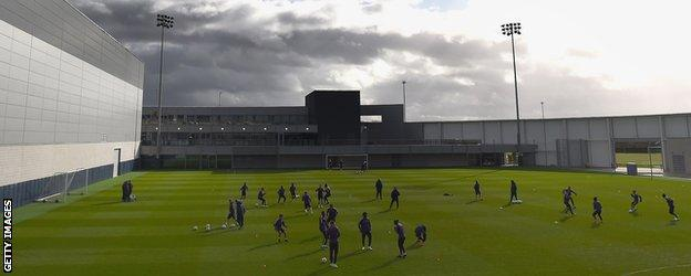 Manchester City at the Etihad Campus