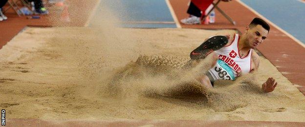 Magherafelt man Adam McMullen improved his long jump personal best to 7.80m recently