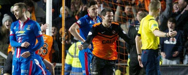 Dundee United defender Ryan McGowan secured a crucial point with a late goal against Inverness