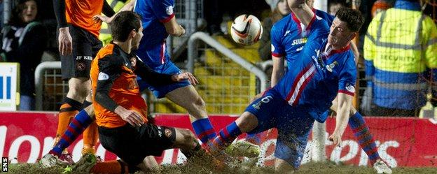 Ryan McGowan secured a point for Dundee United with a lat goal against Inverness at Tannadice