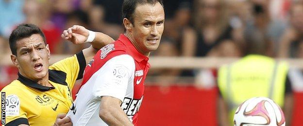 Ricardo Carvalho playing for Monaco