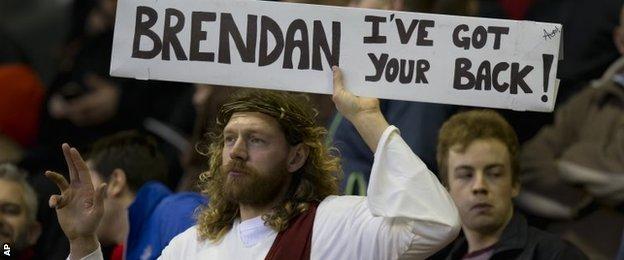 Fan dressed as Jesus
