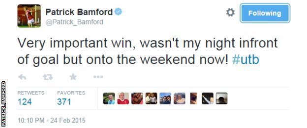Patrick Bamford tweet
