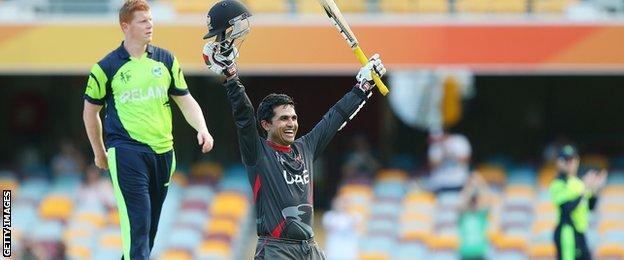 UAE batsman Shaiman Anwar