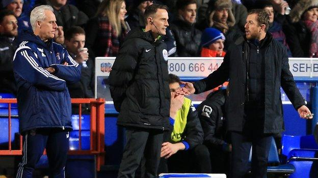 Gary Rowett was pitting his wits against Ipswich manager Mick McCarthy at Portman Road on Tuesday night
