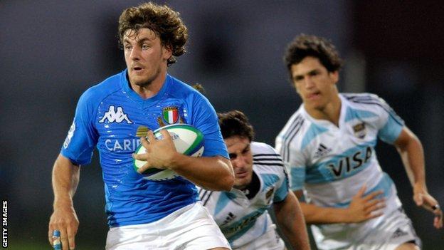 Italy winger Michele Visentin