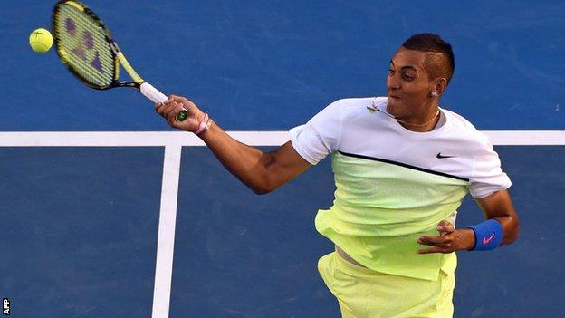 Kyrgios lost to Andy Murray last month