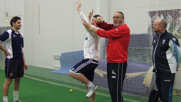 Mike Hendrick at Shrewsbury sports centre
