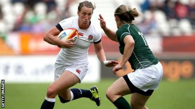 Katherine Merchant in action during the Rugby World Cup