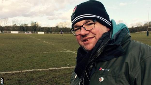 Chesham supporter and women's rugby coach Karl Cross