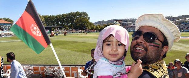 Afghanistan fans in Dunedin