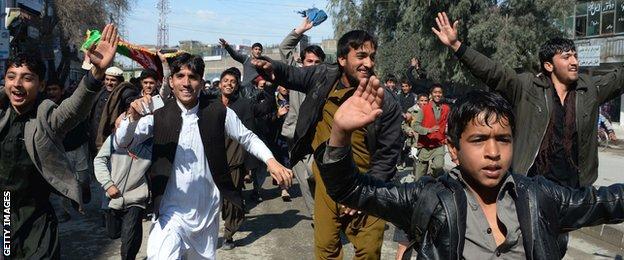 Afghanistan fans celebrate in southern Kandahar