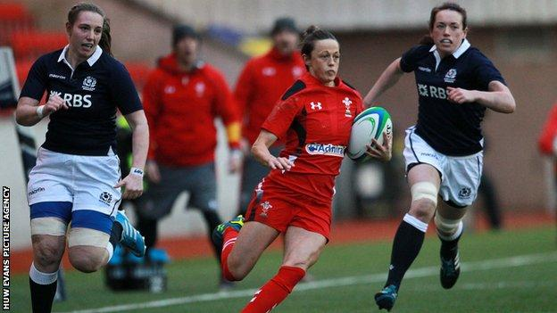 Wales' Laurie Harries in action against Scotland