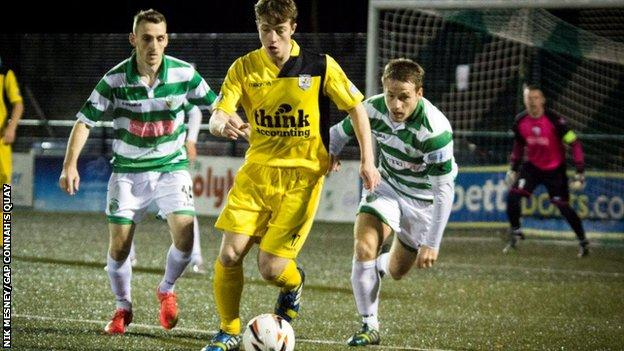 The New Saints in Friday night action against Gap Connah's Quay