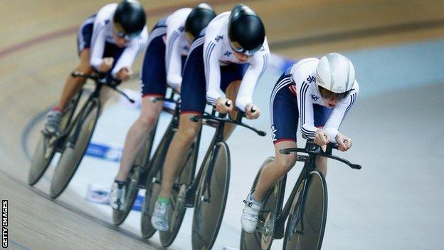 Britain's women's team pursuit quartet won silver at the World Championships