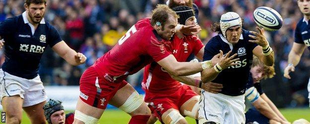 Scotland v Wales at Murrayfield