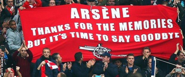 Arsenal fans at The Hawthorns