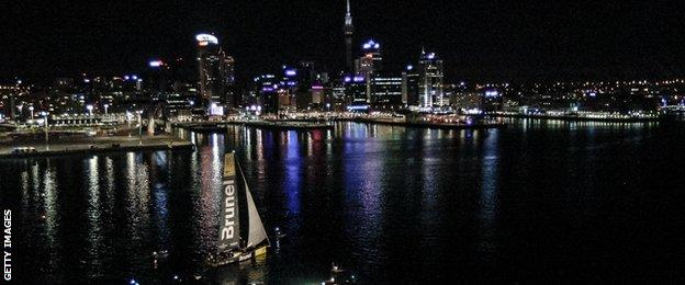 Team Brunel approaches the port of Auckland, New Zealand