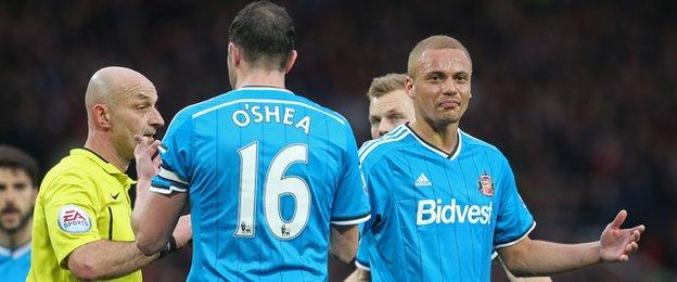 Sunderland defender Wes Brown is confused over his dismissal at Manchester United