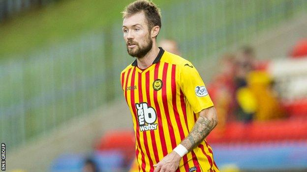 Jordan McMillan has been sacked by Partick Thistle