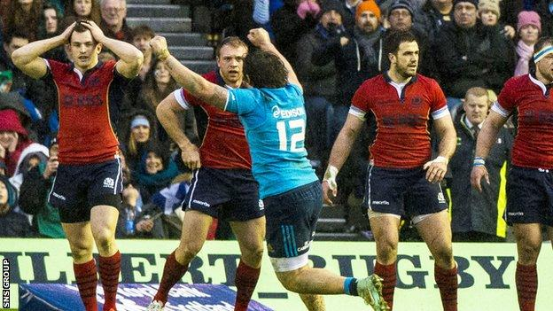 Italy won 22-19 at Murrayfield