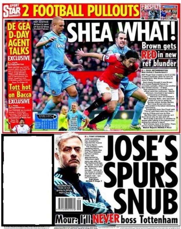 Sunday's Daily Star back page