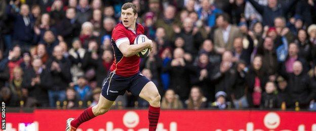 Mark Bennett scored Scotland's solitary try at Murrayfield