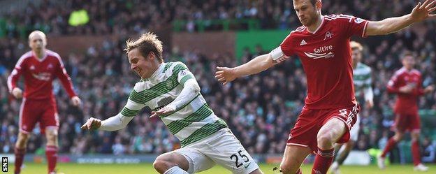 Mark Reynold brought down Celtic's Stefan Johansen for the second half penalty