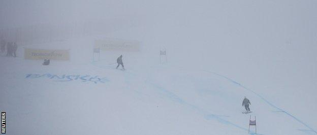 Fog at World Cup in Bulgaria