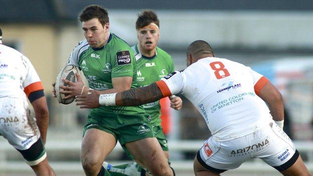 Craig Ronaldson scored six conversions and two penalties for Connacht