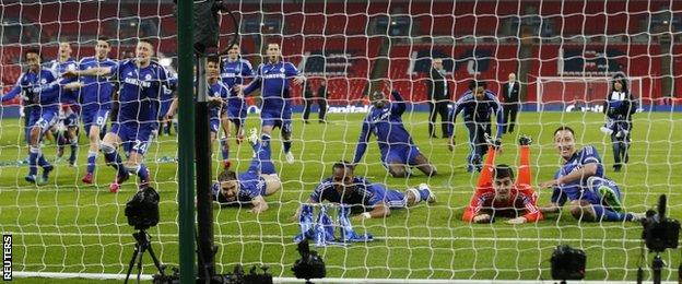 Chelsea celebrate with slide