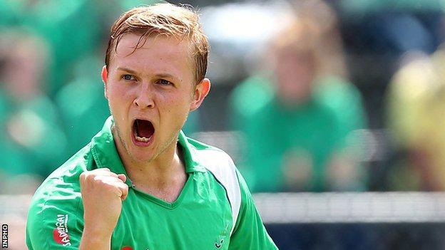 Michael Watt was on target for Ireland against Austria