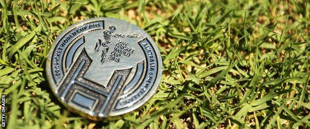A World Cup coin