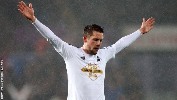 Iceland midfielder Gylfi Sigurdsson joined Swansea from Tottenham in July 2014