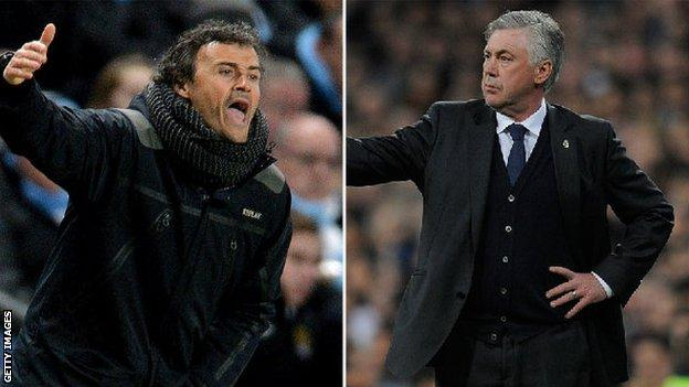 Luis Enrique and Carlo Ancelotti
