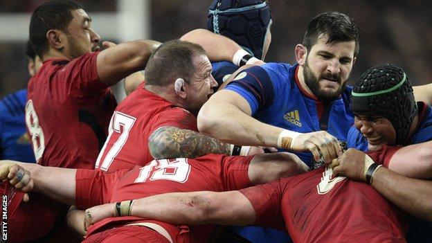 Paul James came off the Wales bench for the final seven minutes against France