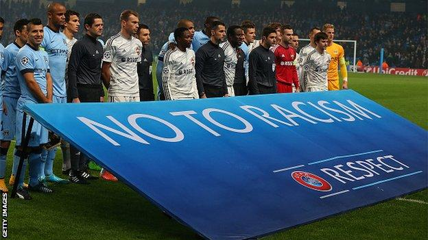 No to racism banner